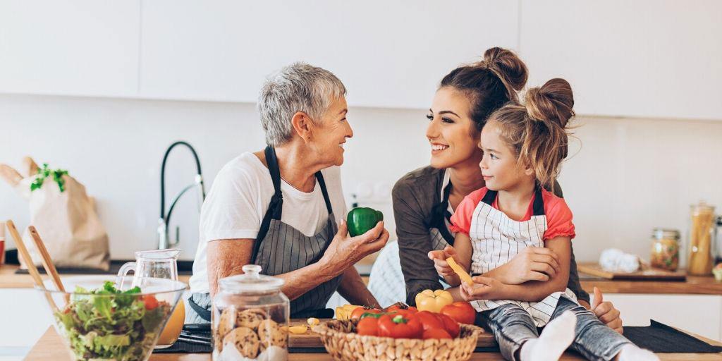 aging parent and daughter discuss finances